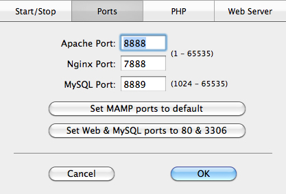 Installing MAMP for Mac