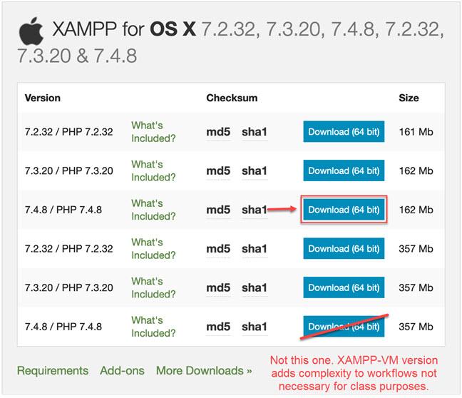 Installing XAMPP for Windows